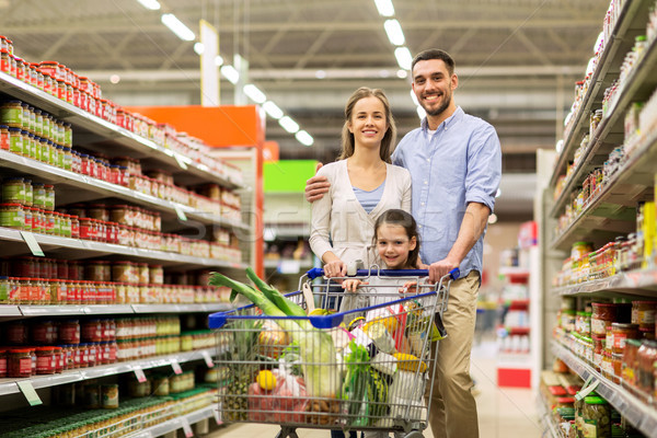 Familie Essen Warenkorb Lebensmittelgeschäft Verkauf Konsumismus Stock foto © dolgachov