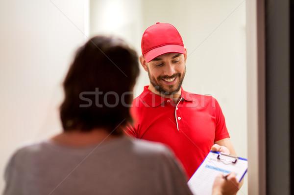 Vágólap vásárló házhozszállítás posta emberek szállítás Stock fotó © dolgachov