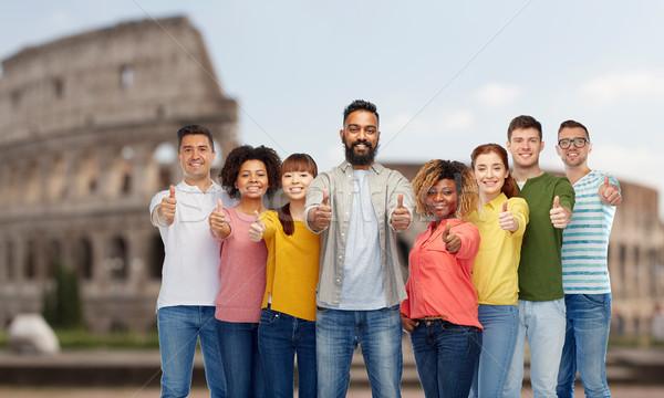 Mutlu insanlar çeşitlilik seyahat turizm Stok fotoğraf © dolgachov