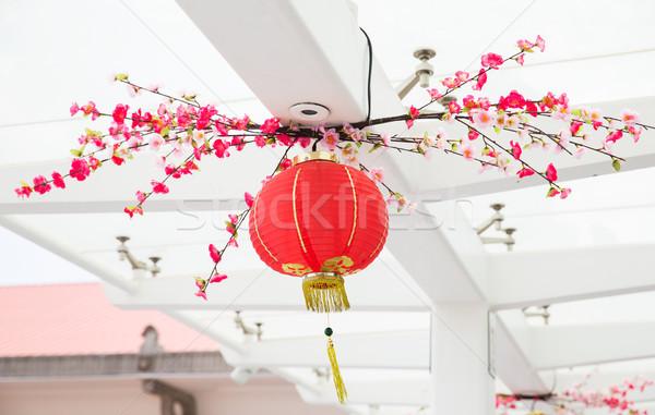 天井 装飾された 絞首刑 中国語 提灯 装飾 ストックフォト © dolgachov