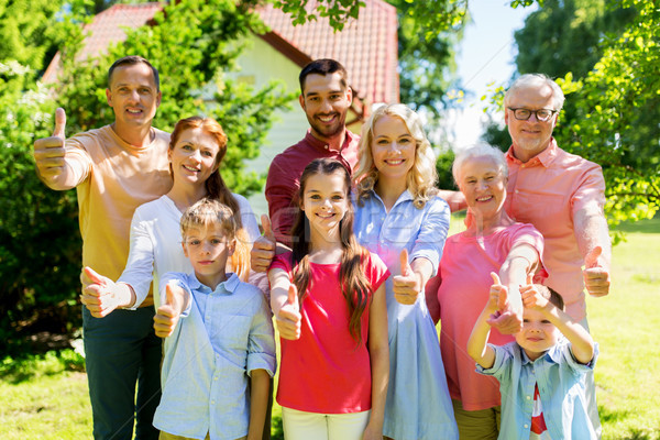 happy family portrait in summer garden Stock photo © dolgachov