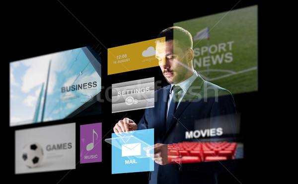 ストックフォト: ビジネスマン · マルチメディア · ビジネス · 人 · 技術