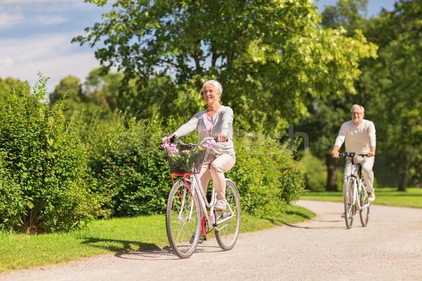 счастливым верховая езда Велосипеды лет парка Сток-фото © dolgachov