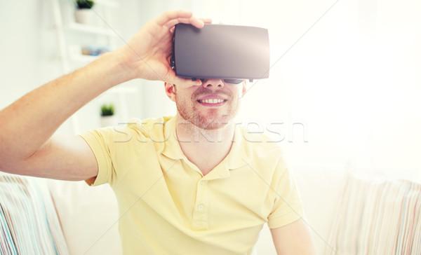 若い男 バーチャル 現実 ヘッド 3dメガネ 技術 ストックフォト © dolgachov