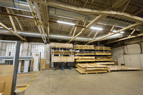 boards storing at woodworking factory warehouse Stock photo © dolgachov