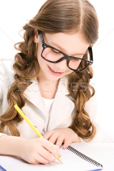 öğrenci parlak resim öğrenme mutlu Stok fotoğraf © dolgachov