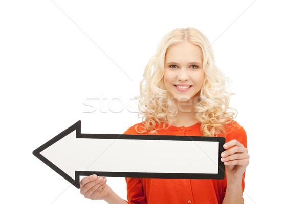 Işkadını yön ok işareti resim çekici iş Stok fotoğraf © dolgachov