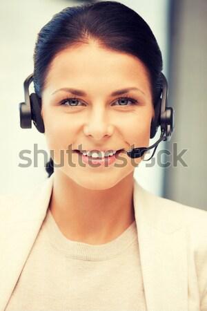優しい 女性 ヘルプライン 演算子 明るい 画像 ストックフォト © dolgachov