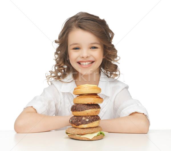 Meisje foto mooie meisje kinderen Stockfoto © dolgachov