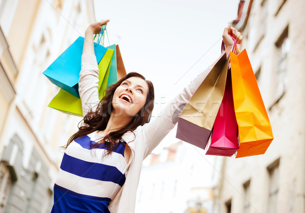 Donna shopping turismo bella donna mani Foto d'archivio © dolgachov