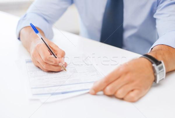 человека подписания договор бизнеса служба школы Сток-фото © dolgachov