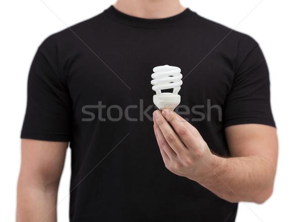 человека электроэнергии энергии Сток-фото © dolgachov