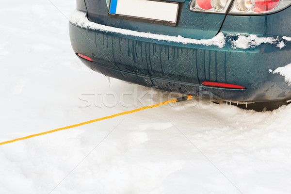 closeup of towing car with towing rope Stock photo © dolgachov