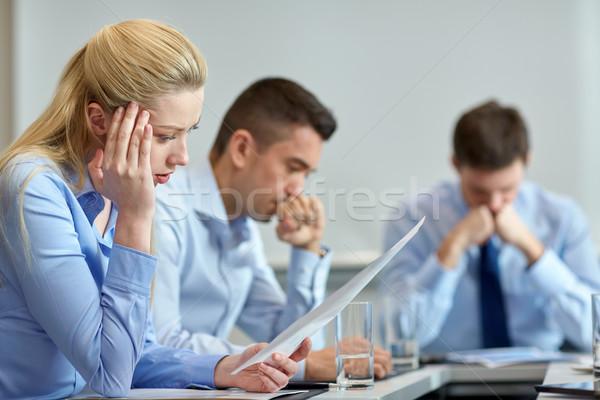 Geschäftsleute Problem Büro Business Teamarbeit Menschen Stock foto © dolgachov
