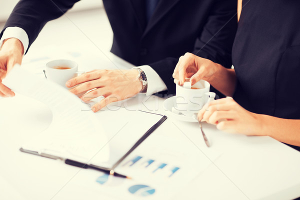 woman hand signing contract paper Stock photo © dolgachov