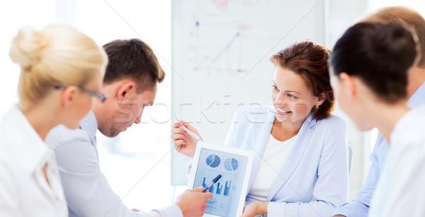 üzleti csapat megbeszél grafikonok iroda barátságos üzlet Stock fotó © dolgachov