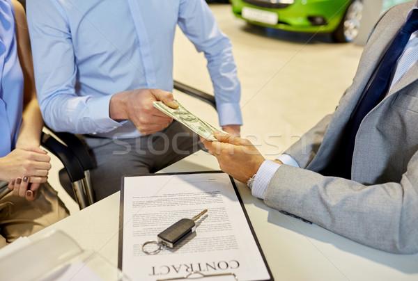 Clientèle argent Auto salon affaires Photo stock © dolgachov