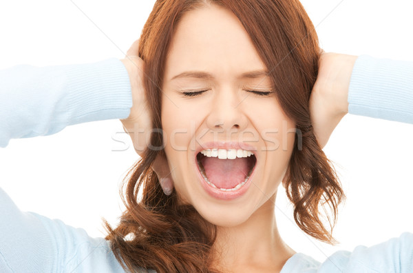 screaming woman Stock photo © dolgachov