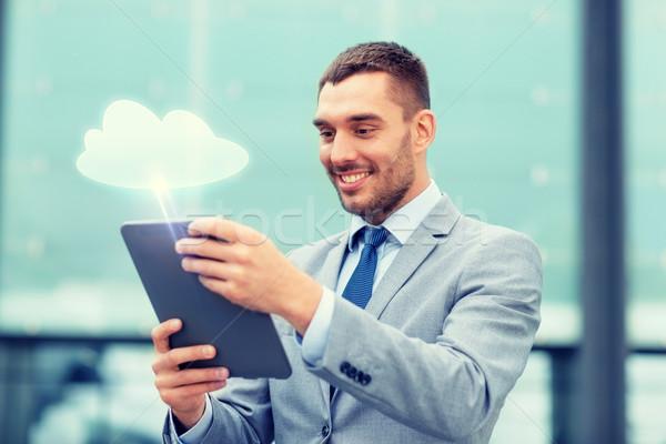 Сток-фото: улыбаясь · бизнесмен · улице · бизнеса