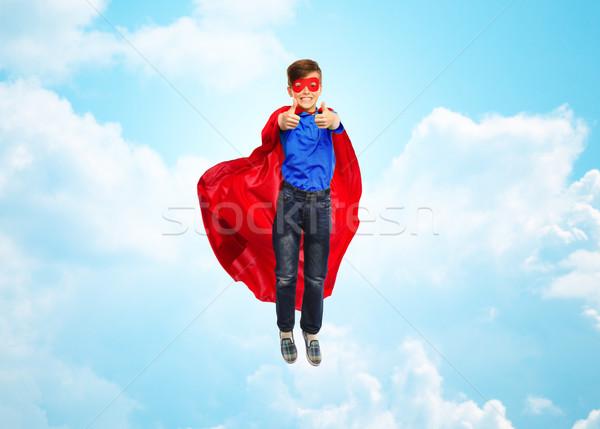 Erkek süper kahraman maske mutluluk Stok fotoğraf © dolgachov