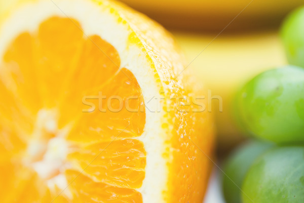 świeże soczysty pomarańczowy winogron zdrowe odżywianie Zdjęcia stock © dolgachov