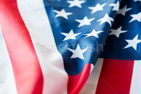 close up of american flag Stock photo © dolgachov