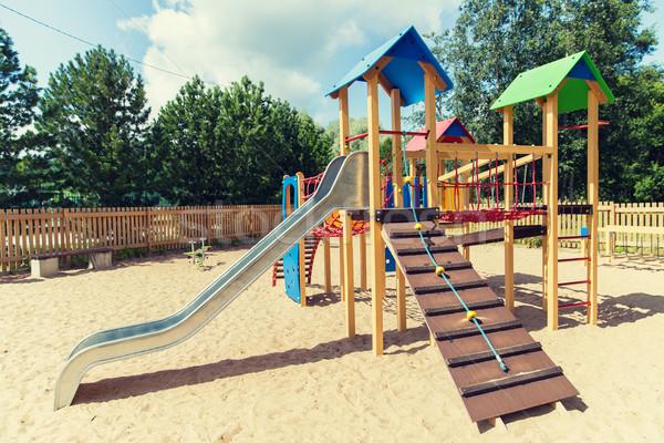 скалолазания кадр слайдов площадка лет детство Сток-фото © dolgachov