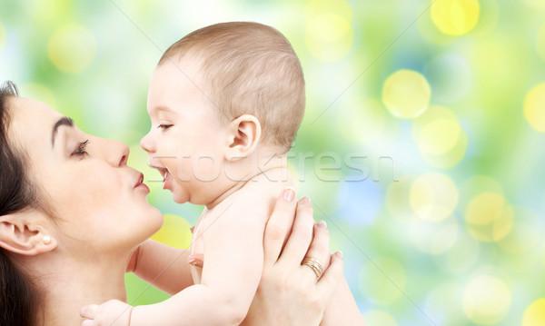 幸せ 母親 キス 愛らしい 赤ちゃん 家族 ストックフォト © dolgachov