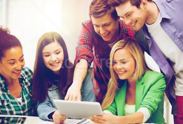 Studenten naar college school onderwijs Stockfoto © dolgachov
