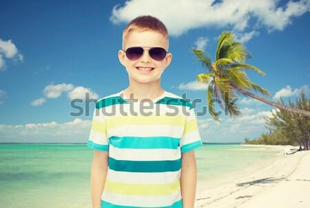 улыбаясь доска для серфинга пляж Летние каникулы путешествия Сток-фото © dolgachov
