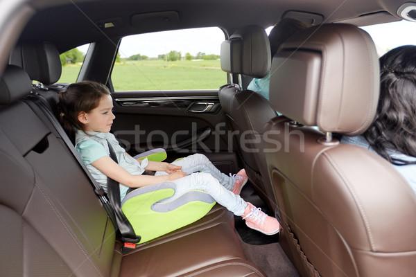 Famille enfant sécurité siège conduite voiture Photo stock © dolgachov