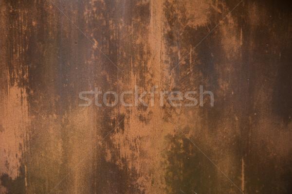 Vecchio arrugginito superficie metallica texture muro Foto d'archivio © dolgachov