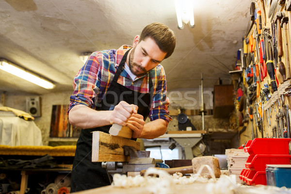 Stolarz pracy płaszczyzny drewna warsztaty zawód Zdjęcia stock © dolgachov