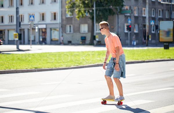 Deskorolka miasta przejście dla pieszych lata wakacje Zdjęcia stock © dolgachov