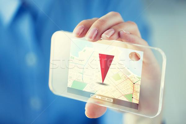 Strony GPS smartphone działalności technologii Zdjęcia stock © dolgachov