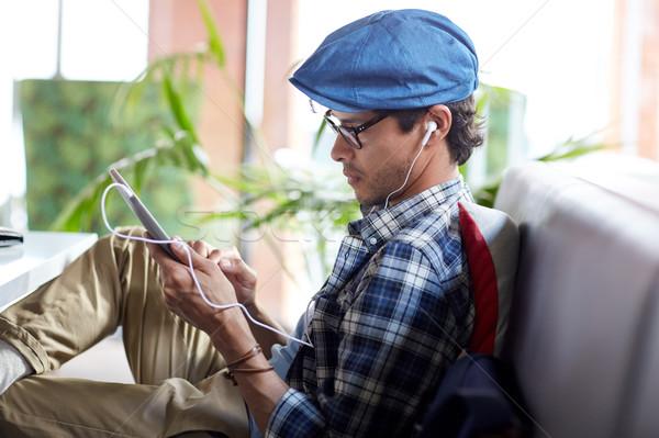 Hombre sesión Servicio ocio Foto stock © dolgachov