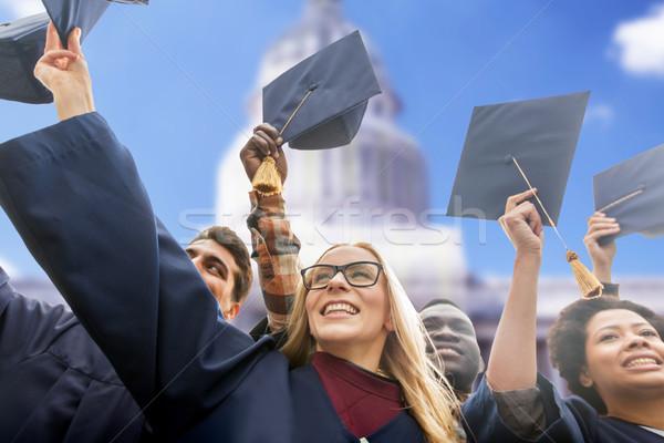 счастливым студентов бакалавров образование окончания Сток-фото © dolgachov