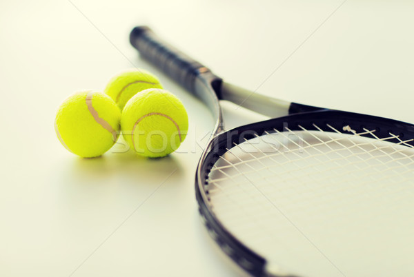 Tennisracket sport fitness Stockfoto © dolgachov