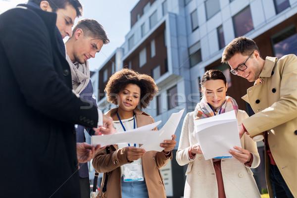 国際ビジネス チーム 論文 市 ビジネス 教育 ストックフォト © dolgachov