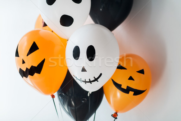 Korkutucu hava balonlar dekorasyon halloween parti Stok fotoğraf © dolgachov