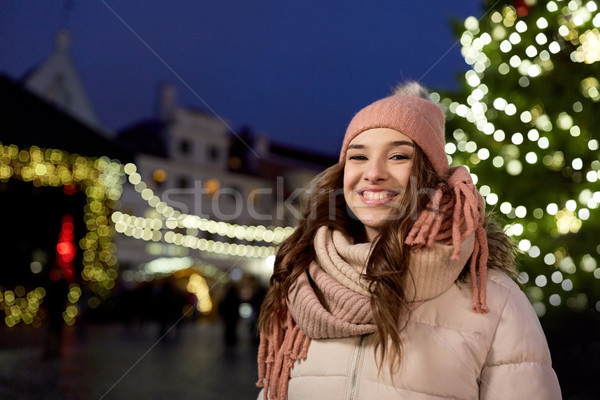 Feliz Navidad mercado invierno vacaciones Foto stock © dolgachov