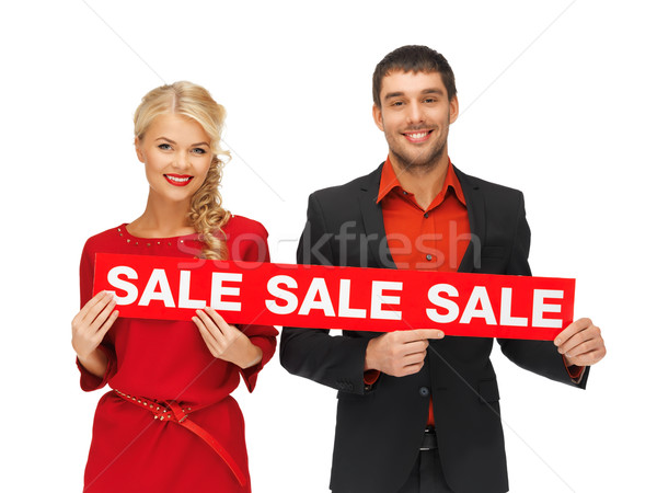 Stock fotó: Férfi · nő · vásár · felirat · fényes · kép