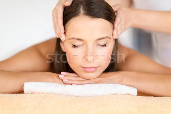 Stockfoto: Mooie · vrouw · spa · salon · gezondheid · schoonheid · resort