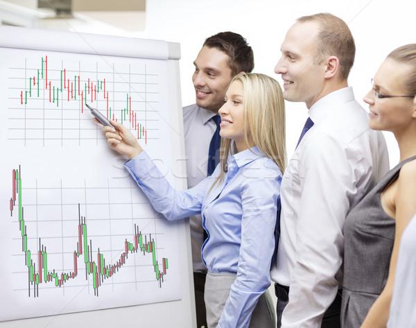 Foto stock: Equipo · de · negocios · bordo · debate · negocios · dinero · oficina