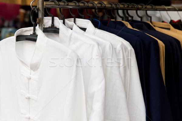 Stockfoto: Mannelijke · hanger · asian · straat · markt