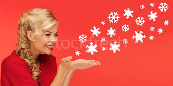 женщину ладонями рук люди Сток-фото © dolgachov