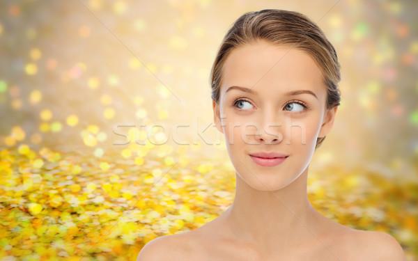 Sonriendo cara espalda belleza personas Foto stock © dolgachov