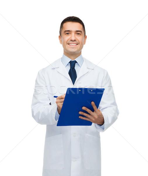 Stok fotoğraf: Gülen · erkek · doktor · yazı · tıp · meslek