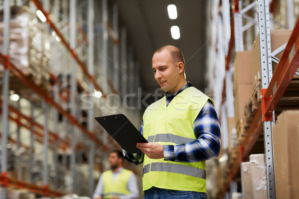 Man magazijn groothandel mensen Stockfoto © dolgachov