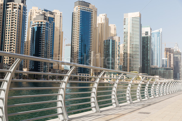 Dubai city business district and seafront Stock photo © dolgachov